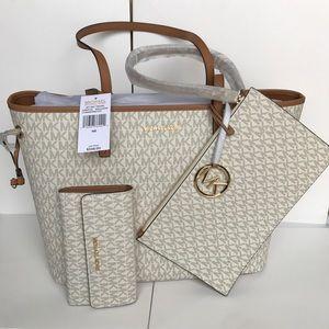 ❤️🌷mk drawstring tote set/shoulder bag & wallet